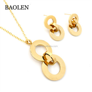 Women Gold New Design Mexican Platinum Plated Jewelry Sets