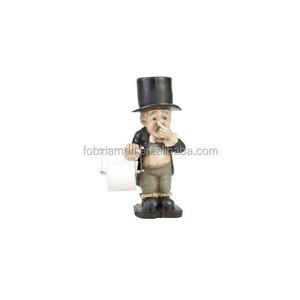 Funny Freestanding Resin Toilet Tissue Paper Holder