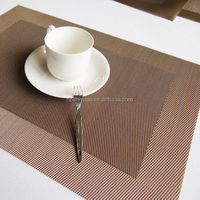 non-slip disposable custom pvc placemats for coffee