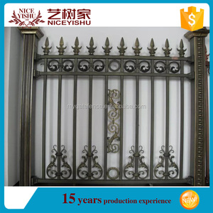Yishujia factory solid metal fence panel used fence panels exporter aluminium front fencing
