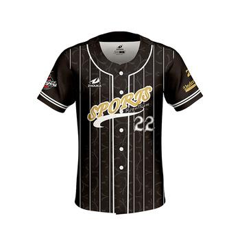 c7009b5a3eb China Wholesale Custom Striped Baseball Jersey Mens Black Baseball Jersey  Shirt