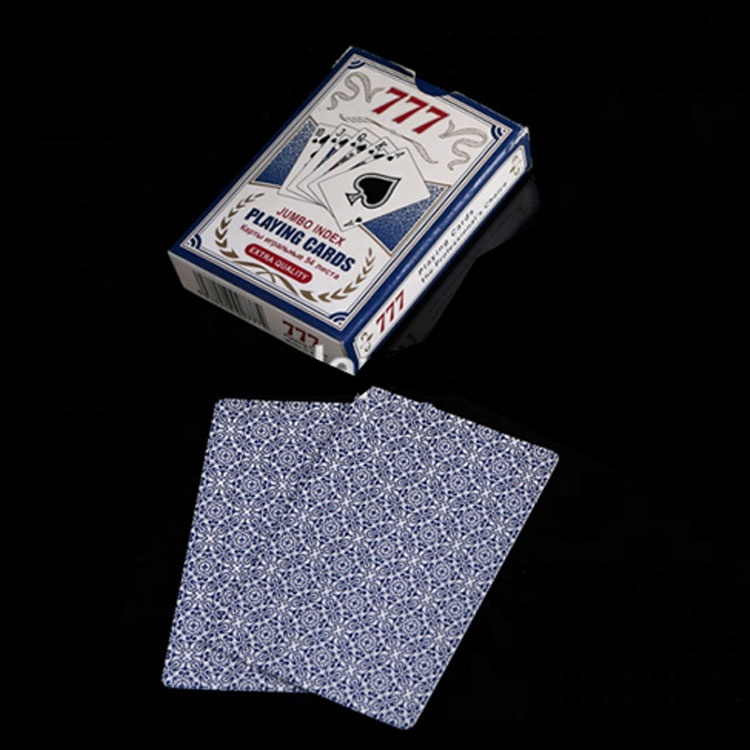 Factory Supply Goedkope poker plastic 777 speelkaarten