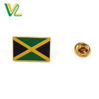 Customized professional Brass Jamaica National Flags for Dress 3D decoration pins