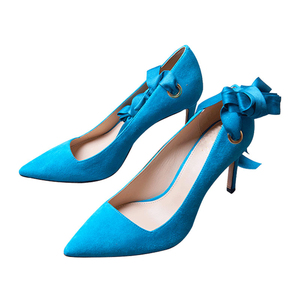 Beautiful Lace Up High Heel Pumps Women Dancing Ballets Bridal shoes