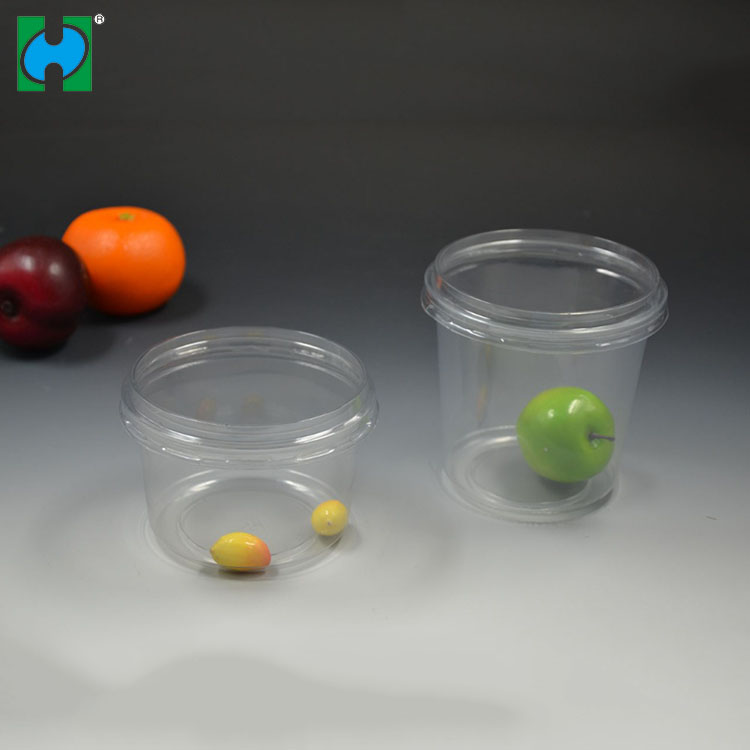 Biodegradable Single Wall Clear PP Material Food Bowl Disposable Plastic