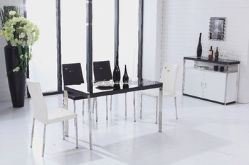 Modern Kitchen Table Furniture Tempered Glass Dining Table