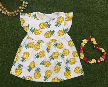 56ffe5556c89 icing shorts match pineapple print baby flutter dress pineapple fruit  design boutique clothing kids clothes
