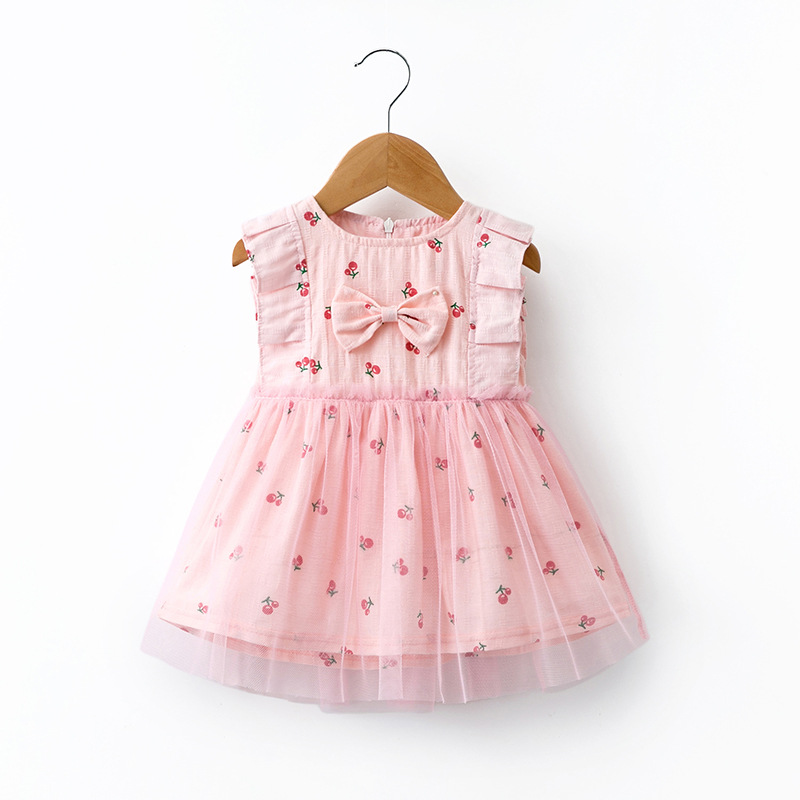 2019 new design fashion wholesale boutique kids summer dress wear with lace