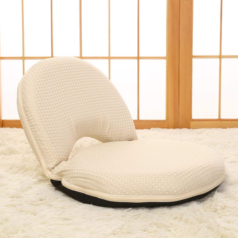 Sport&Sofa Lazy Sofa Computer Kid's Lazy Chair Comfortable Folding Recliners Leisure Single Tatami Lazy Couch Bed Children Reading Book Without Leg Backrest Chair,Beige