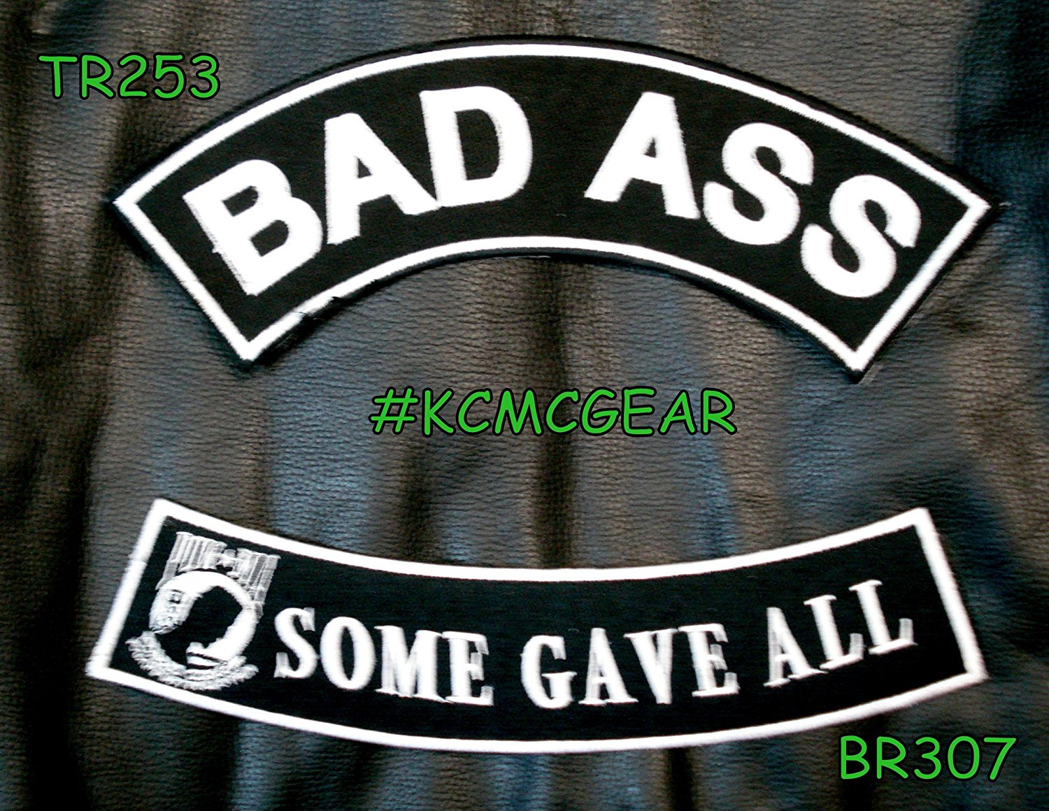 Military Biker Patch Set Bad Ass Some Gave All Embroidered Patches Sew on Patches for Jackets