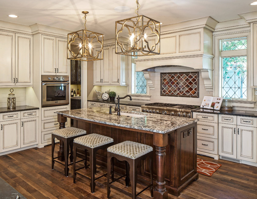 French design luxury solid wood kitchen <strong>cabinet</strong>