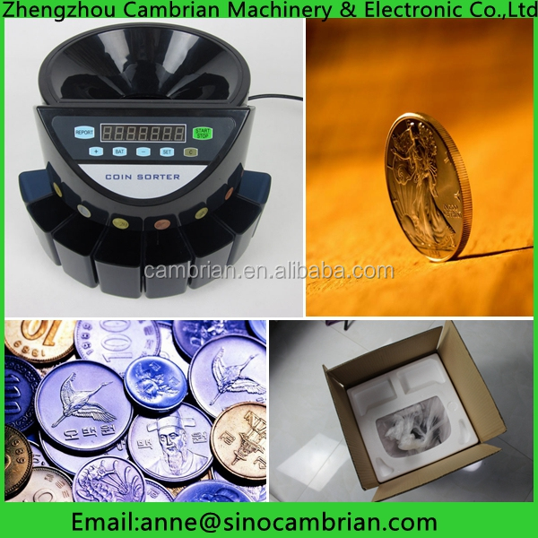 Many countries colombia coin sorter for hot sale