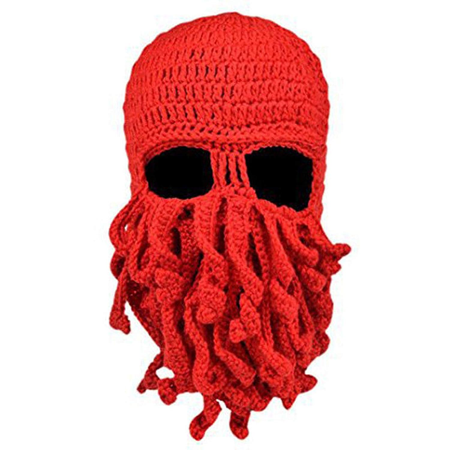NEEVAS Unisex Octopus Warm Knitted Wool Ski Face Mask Knit Hat Squid Cap Beanie