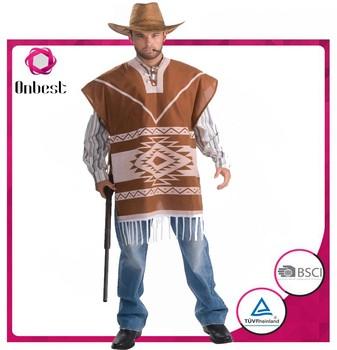 Nuevo Diseño Indio Disfraz Hombre Indio Traje Cosplay Traje Vaquero ... 367e3e4ac0f