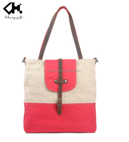 2016 High Quality And Elegant Canvas Tote Bag Weekender Bag For Ladies