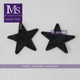 latest design glitter black sequin material embroidery star patch custom embroidery patch for garment