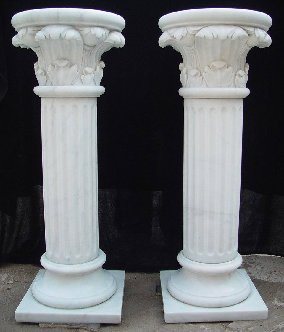building decorative white marble roman columns for sale