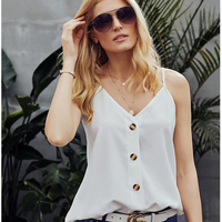 2019 The Latest Design Top Selling Women's Tops Summer Sexy Sleeveless V Neck Tops Female Blouse