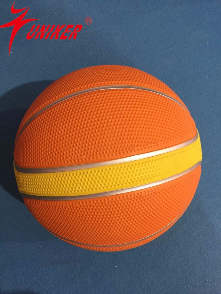 Rubber Basketball with Butyl Bladder