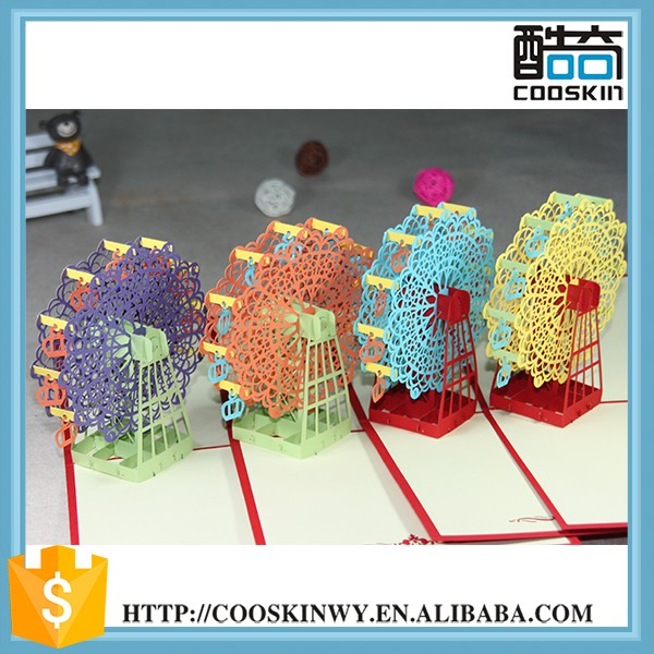 Professional Supply Promotional 3d Pop Up Birthday Card