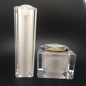 30g 50g luxury pearl white high quality acrylic square jar for face cream