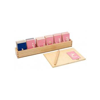 International Print Montessori Material Large Movable Wooden Alphabet Letters