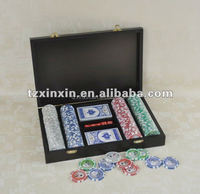 2 in1 dice poker chips set , chip box ,ganbling products