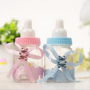Baby Feeder Style Candy Bottle Gift Box Baby Shower Favors Pink Blue for Baby Shower Party 12pcs