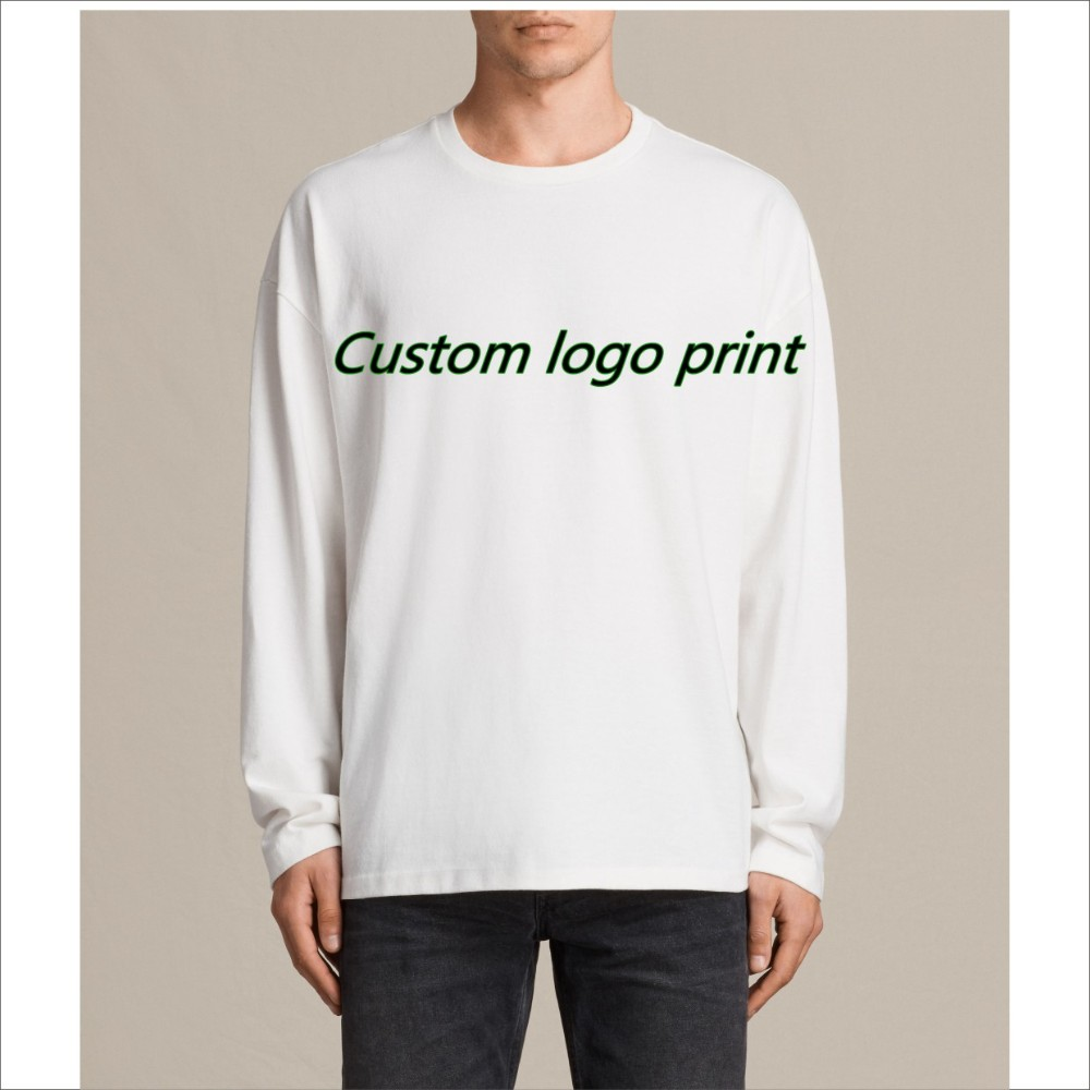 Free Sample Design Your Own Logo 150180170 Gsm Cotton Custom Long