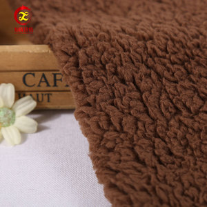 China textile market polyester thick fleece fabric rolls