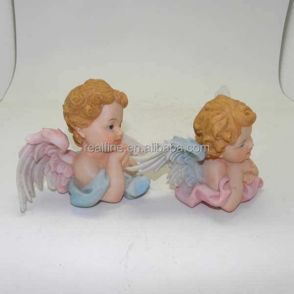 home decoration pretty couple polyresin bust wings angel