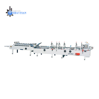 ZH-900A Automatic Flexo carton box Folder Gluer & folding and gluing machine