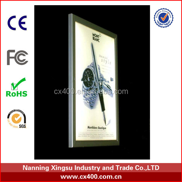 Aluminum Snap Frame Advertising LED Light Box .advertising aluminum LED frame A1 A2 A3 A4