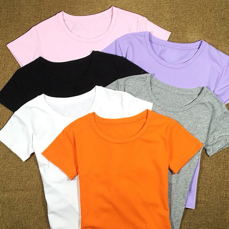 TOP high quality short sleeve 100 cotton women t shirt