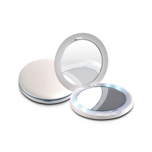 TOUCHBeauty compact design small Rechageable mirror makeup led cosmetic mirror with lighting TB1275
