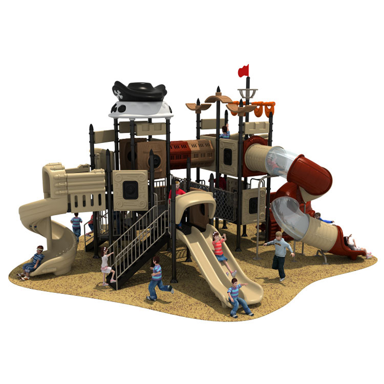 New Pirate Boat Style Children's Playground Outdoor Playground with Slides