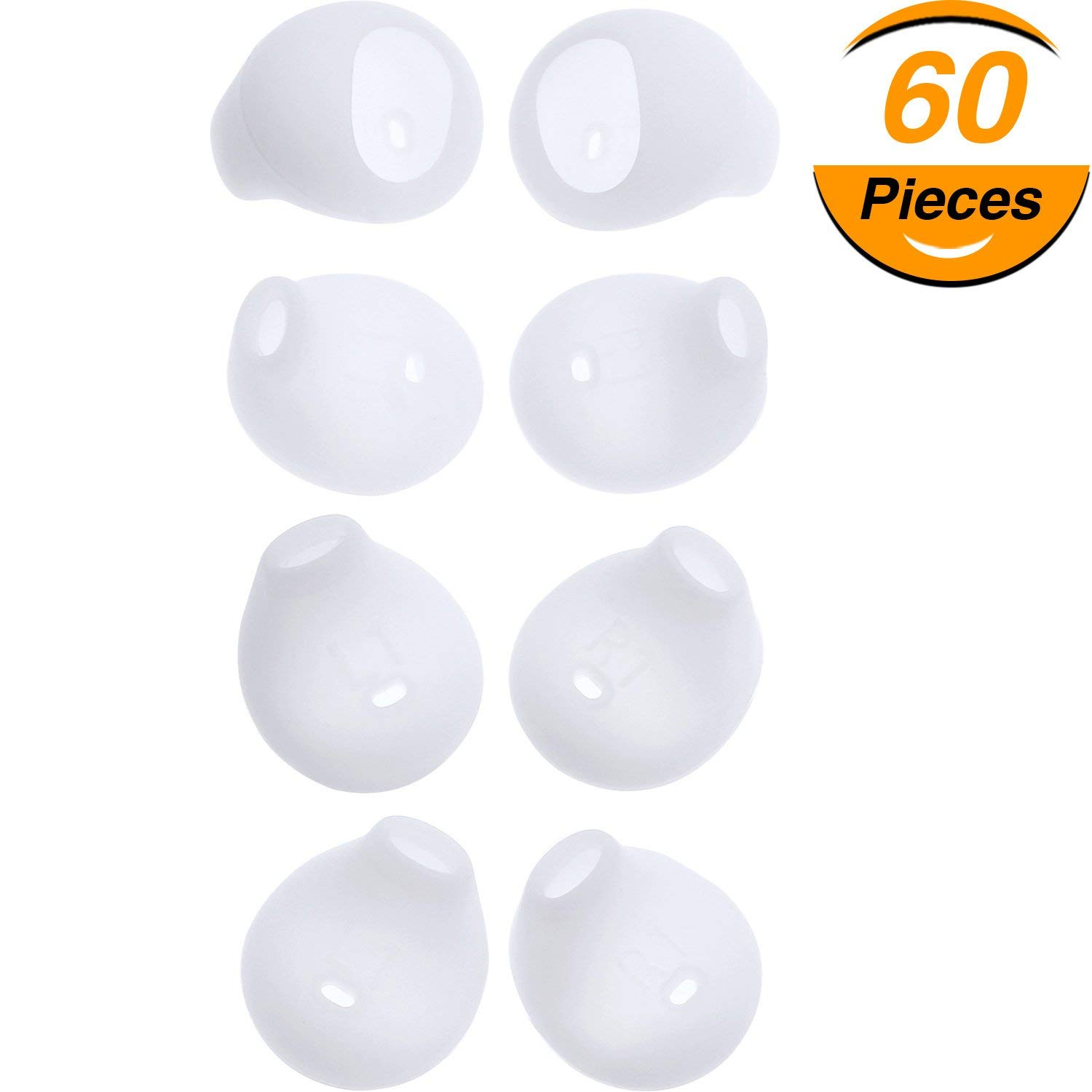 61eda53f772 Get Quotations · Hestya 60 Pieces Silicone Earbud Covers Earbud Cover Tips  Replacement for Samsung Galaxy Note 5/
