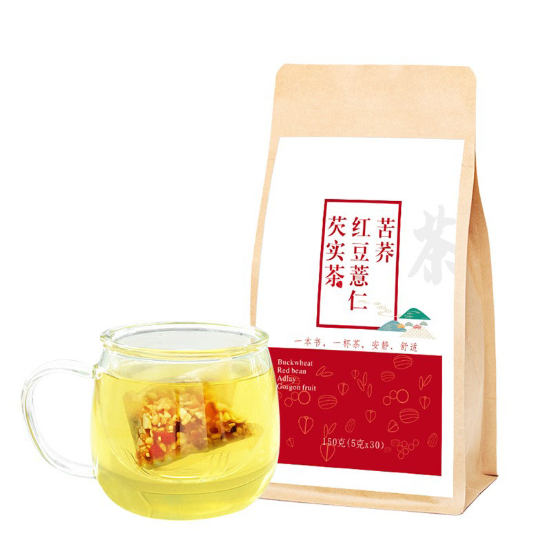 private labels Red Bean coix seed Gorgon Fruit flower detox tea Clearing Damp Detoxification natural health drink clear stock - 4uTea   4uTea.com