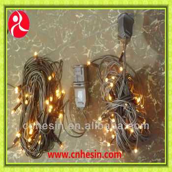10M 100L Outdoor Led Rice Lights With Controller And UL Connector