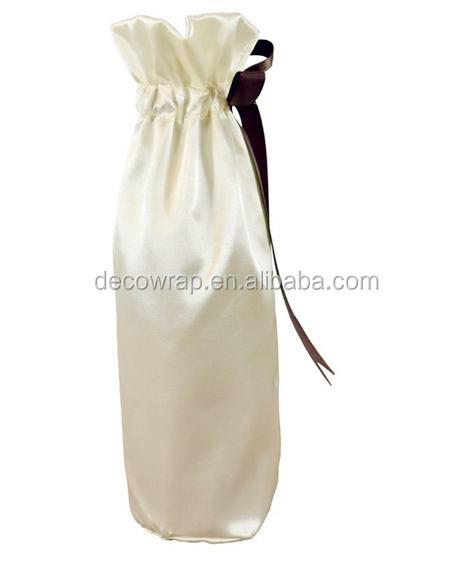 Mini Cute Wine Bottle Satin Organza Bag
