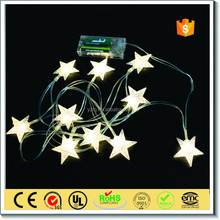 High quality christmas party decoration led star string lights with battery box