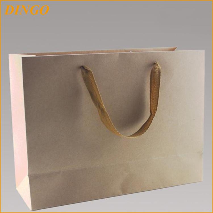personnalis pas cher de luxe recycler le papier kraft sac. Black Bedroom Furniture Sets. Home Design Ideas