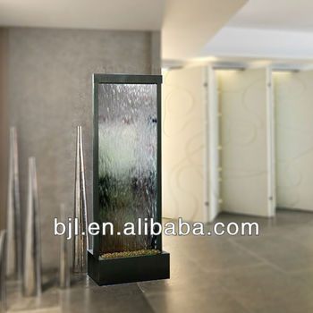 Glass Waterfall Room Divider Bedroom Decoration