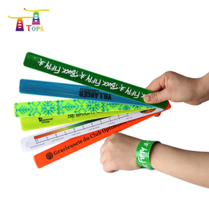 popular pvc slap event sport reflective custom snap wrist band