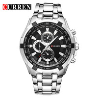 wholesale curren 8023 man stainless steel quartz wrist watch