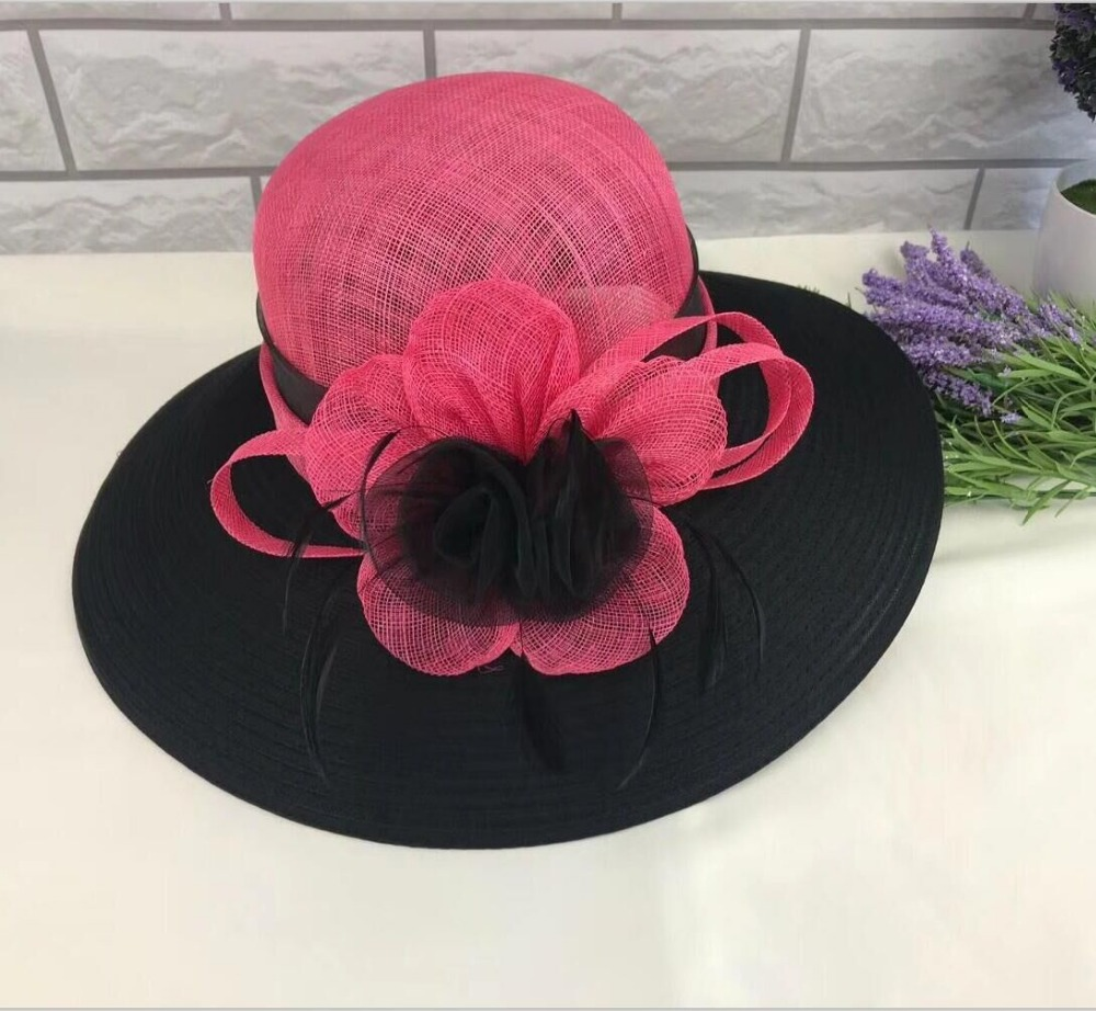 ABPF Fancy Sinamay Fabric Satin Wedding Church Hats