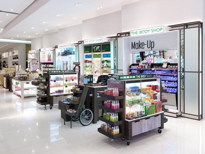Creative Design Beauty Showroom Cosmetic Acrylic Display