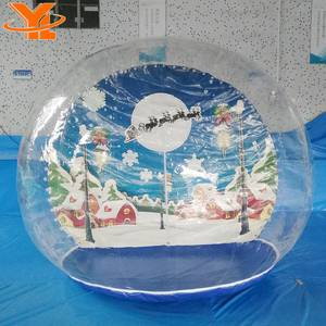 Life Size Snow Globe Clear Inflatable for Live Show