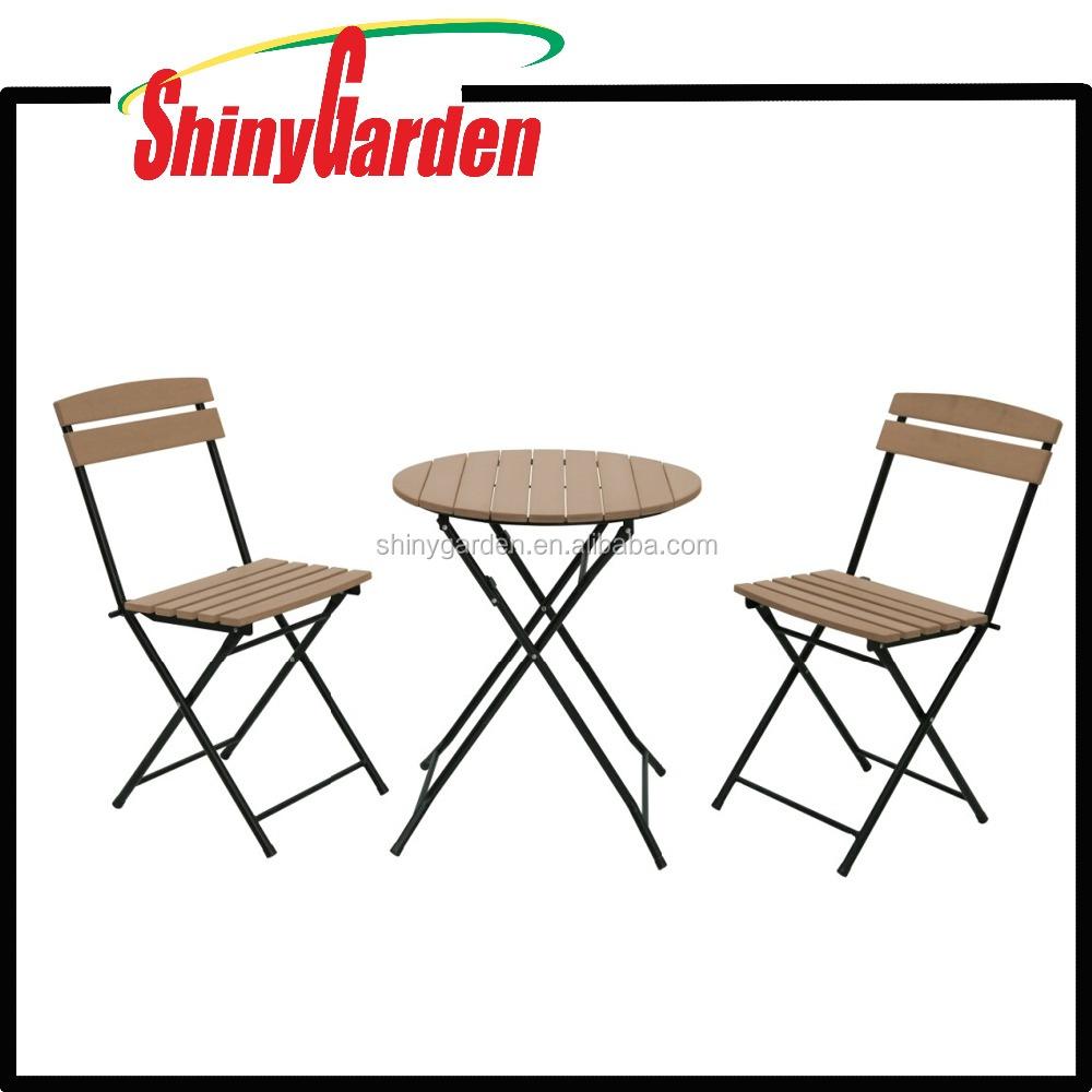 CARREFROUR polywood salon de jardin en plastique bois chaise table ...