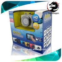 Cooldragon JM-G330 waterproof sport camera 2.0 inch Touch LCD 720P 30fps high definition 4X digital zoom 32G